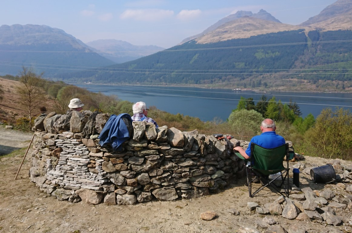 View Point seat in Arrochar